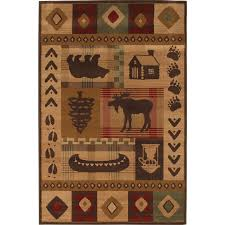 8 11 Rug Shop Mohawk Home Westland Lt Dark Brown Brown Rectangular Indoor