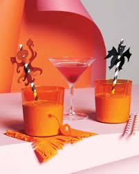 Halloween Cocktails And Drink Recipes Martha Stewart Halloween Paper Straw Toppers Martha Stewart