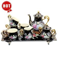 vintage tea set black ivory bone china vintage tea set umiteasets