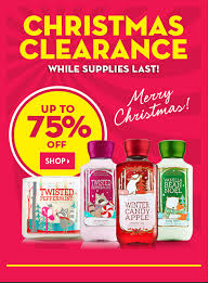 christmas clearance bath works 75 christmas clearance sale online only