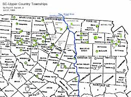 South Carolina County Map Some Sc Early Maps