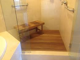 Bathroom Shower Bench Bathroom Custom Teak Shower Bench Design Ideas Teak Benches For