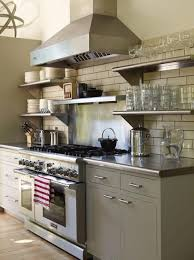 Open Metal Shelving Kitchen by Best 25 Stainless Steel Kitchen Shelves Ideas On Pinterest