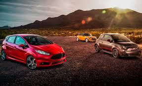 2014 ford fiesta st vs 2014 fiat 500 abarth 2014 mini cooper s