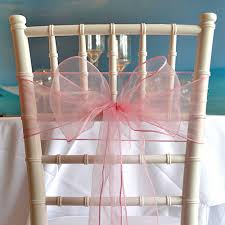 Chair Sashes Organza Chair Sash Light Pink Faraway Event Rentals Koh Samui