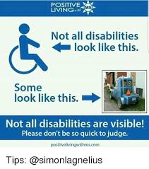 Ms Memes - positive living ms not all disabilities look like this some look