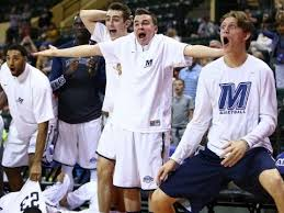basketball bench celebrations monmouth s over the top bench celebrations are the most fun thing