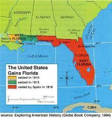louisiana florida map us history maps westward expansion the louisiana purchase