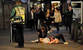 Christmas Parties In Newcastle - carnage across the country as hundreds of revellers spill out onto