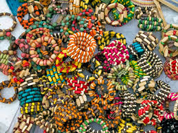 set of traditional indian ornaments in indian market