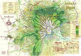 Uganda Africa Map by Mount Elgon