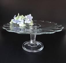 pedestal cake stand vintage indiana glass teardrop pedestal cake stand 11