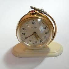 mechanical desk clock vintage mechanical rare slava globe clock from berovavintage on