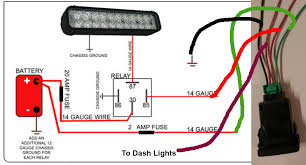 need help wiring push button light switch fro lid light bar