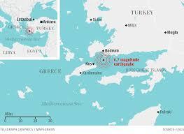 Kos Greece Map by Bodrum Kos Earthquake U2013 Tsumaps Neam