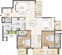 penthouse 5bhk type b tower h floor plans