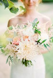 wedding flowers eucalyptus dahlia wedding bouquets brides