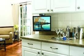 kitchen televisions under cabinet kitchen tv cabinet under the cabinet for kitchen beautiful looking