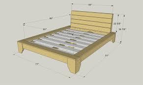 Pine Platform Bed With Headboard Platform Bed Buildsomething Com