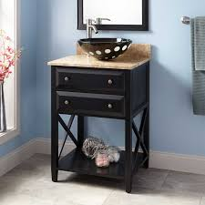 black vessel sink vanity signature hardware