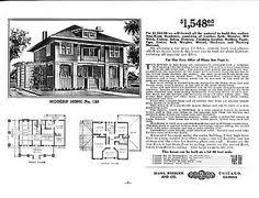 1916 foursquare house plan love the craftsman touches home