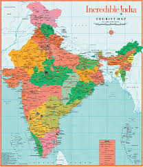 Map Of India With States by Plain Colour Political Map Of India With The Several States