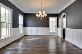Dining Room Wainscoting Ideas So In Love With These Dark Grey Walls With The Half White Board