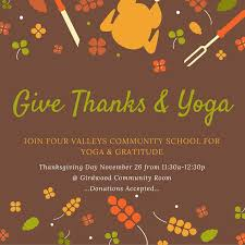 give thanks and free class on thanksgiving day four