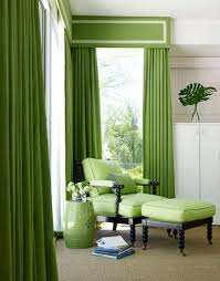 Green And White Curtains Decor Home Decoration Design Green Curtain For Living Room
