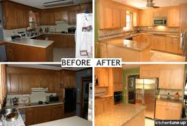 Refinishing Kitchen Cabinets Sad Before U How To Reface Art - Kitchen cabinet restoration
