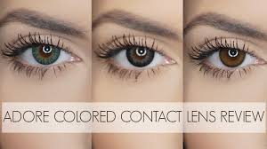 colored halloween contacts adore colored contacts for brown eyes best review youtube