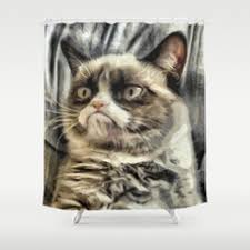 Chemistry Shower Curtains Society6 Grumpy Cat Shower Curtain 2018 Funny Cats