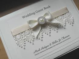 vintage wedding guest book vintage lace wedding guest book personalised pearls diamante