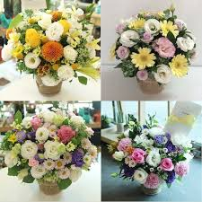 basket of flowers fgk s flower basket of the day medium flower gift korea 330 5