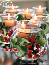 diy holly christmas table top u2013 top easy interior design for party