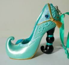disney parks cinderella fairy godmother christmas shoe ornament