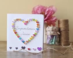 handmade 3d congratulations card personalised