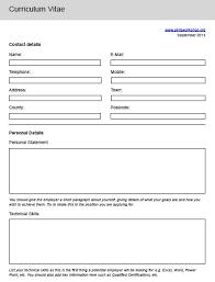 Blank Resume Template Word Cv Template Word Uk