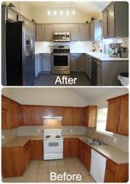 Our Oak Kitchen Makeover Oak Kitchen Cabinets Subway Tile - Images of cabinets for kitchen