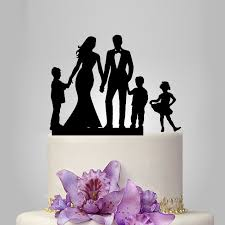 family cake toppers family wedding cake topper with 2 boy and 1 girl and groom