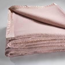 australian wool blanket dusty pink by bianca super king bed