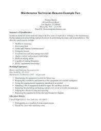 sample of maintenance resume maintenance supervisor resume