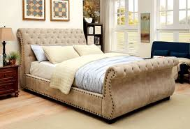 Tufted Sleigh Bed King Luxury Upholstered Sleigh Bed King Great Upholstered Sleigh Bed