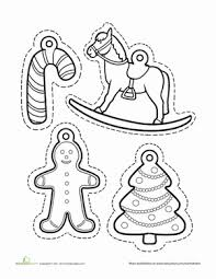 ornament coloring worksheet education