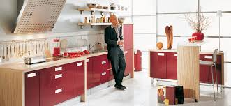 Red Colour Kitchen - red kitchens