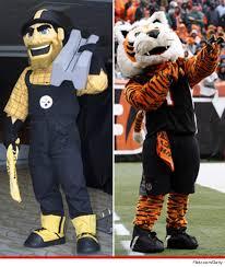 Cincinnati Bengals Halloween Costume Monday Night Football Steelers Bengals Mascots U0027d Win