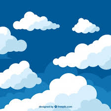 clouds background in flat design vector free