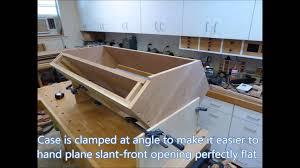 Secretary Desk Plans Free by Slant Front Desk August 2015 Youtube