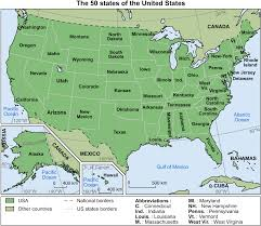 State Abbreviations Map by United States Map