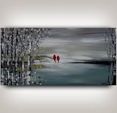 olympic blue landscape painting modern art for sale wall